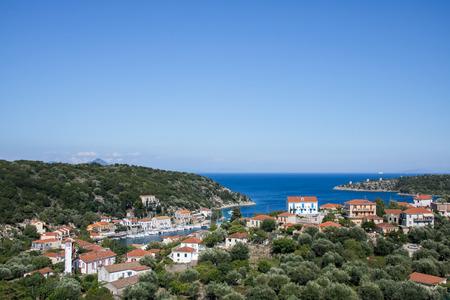 City and port of Kioni, island Ithaca, Greece