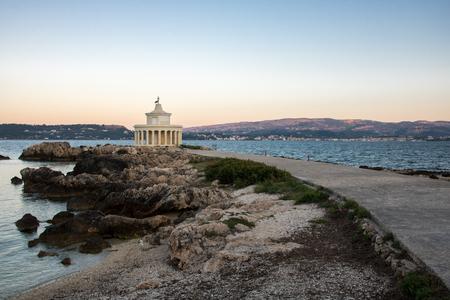 Fanari of Argostoli - the famous lighthouse on Greek island Kefalonia, Greece Stock Photo