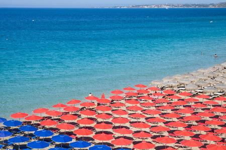 Makris Gialos beach, island Kefalonia, Greece Stock Photo