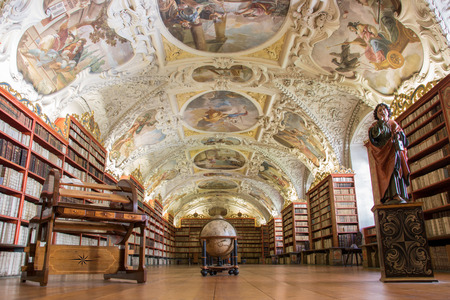 Library of Strahov Monastery (Theological Hall) in Prague, Czech Republic Editorial