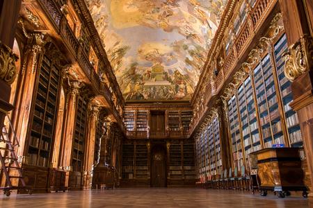 Library of Strahov Monastery (Philosophical Hall) in Prague, Czech Republic