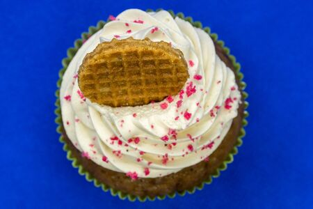 Decorated cupcake - top view Banque d'images