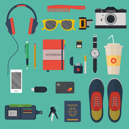 every day: Modern illustration concept of every day carry. Flat design.
