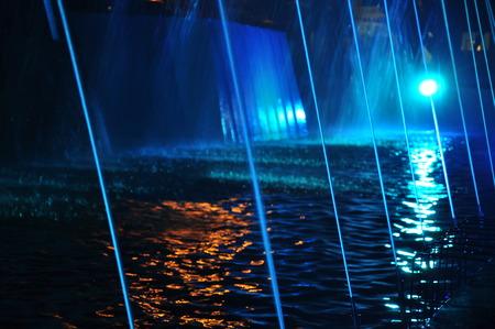 waterpool: blue light pool