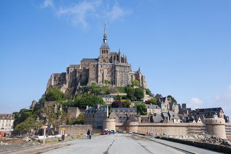 st  michel: Mont St. Michel, the monastery on an island in Normandy