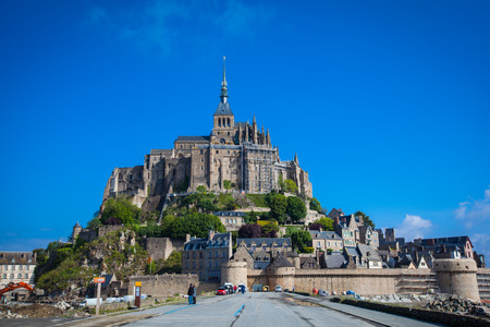 michel: Mont St. Michel, the monastery on an island in Normandy