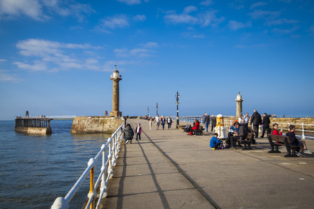 whitby: The harbour and lighthouses of Whitby