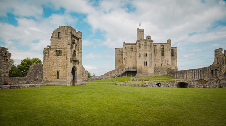 Warkworth Castle in Northumberland Editorial