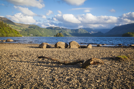 shores: On the shores of Derwentwater near Keswick