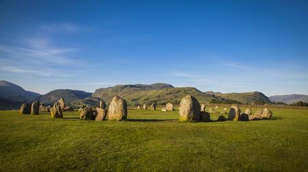 stone circle: Castlerigg stone circle in Lake District in morning light