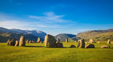 Castlerigg stone circle in Lake District in morning light