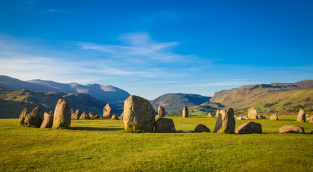 Castlerigg stone circle in Lake District in morning light