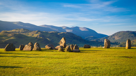 lake district: Castlerigg stone circle in Lake District in morning light