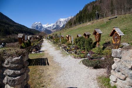 berchtesgaden: Ramsau cemetery near Berchtesgaden