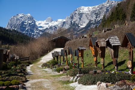 berchtesgaden: Ramsau  cemetery near Berchtesgaden Stock Photo