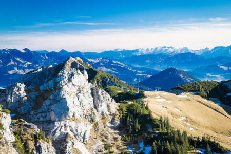 View from mountain Wendelstein Stock Photo