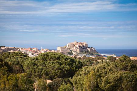tourismus: View of Calvi in Corsica Stock Photo