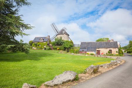 bretagne: Dol de Bretagne windmill Brittany France Editorial