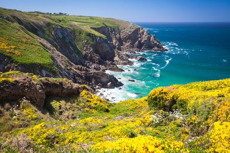 Pointe du Raz Halbinsel in Finistere Brittany Standard-Bild - 41733786