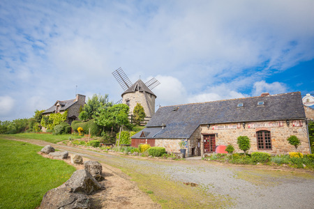 brittany: Dol de Bretagne windmill Brittany France Stock Photo