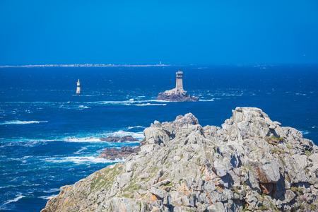 du: Pointe du Raz peninsula in Finistere Brittany Stock Photo
