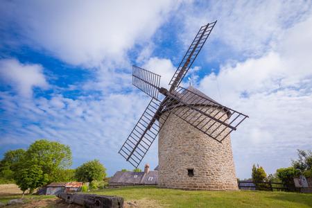 bretagne: Dol de Bretagne windmill Brittany France Stock Photo