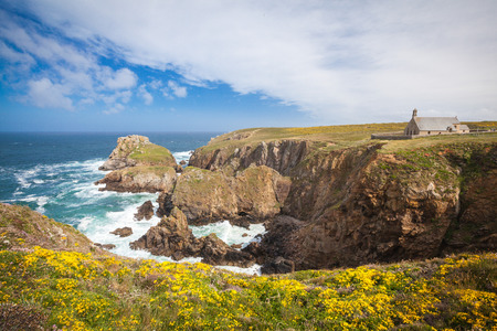 brittany: Pointe du Van peninsula in Finistere Brittany Stock Photo