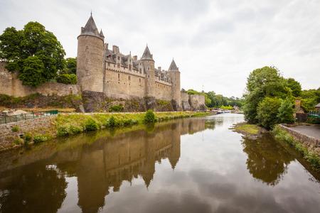 Chateau de Josselin in department Morbihan in Brittany