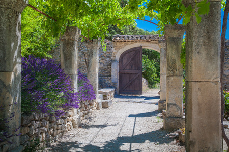the abbey: Abbey Provence France Stock Photo