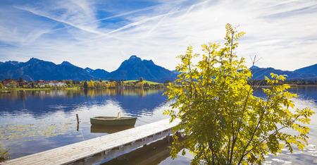 allgau: Lake Hopfensee in Allgaeu in autumn