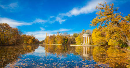 autumn in the park: Autumn in the park of Nymphenburg Palace in Munich
