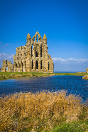 the abbey: Whitby Abbey North Yorkshire Stock Photo
