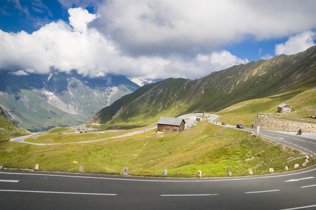 grossglockner: Grossglockner alpine street in Austria Stock Photo