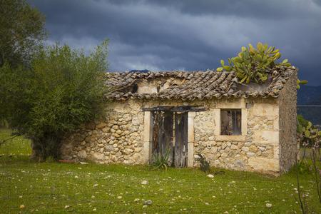 mallorca: Ruins of an old house on  Mallorca Stock Photo