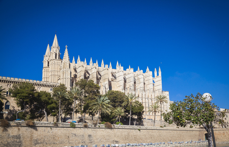 palma: Cathedral San Seu in  Palma de Mallorca Stock Photo