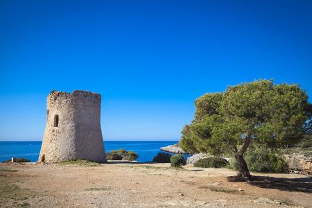 pi: Old watchtower in Cala Pi, Mallorca Stock Photo