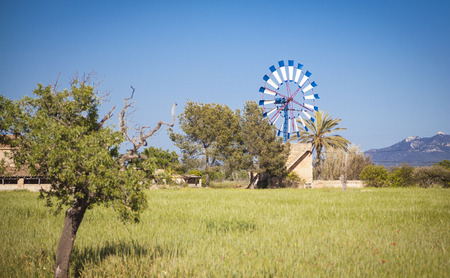 mallorca: Traditional windmill of Mallorca Stock Photo