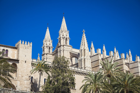 mallorca: Cathedral San Seu in  Palma de Mallorca Stock Photo