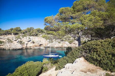 pi: Sailing boats in the bay of Cala Pi