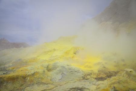 active volcano: Active Volcano at  White Island New  Zealand