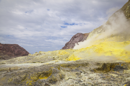 volcanic landscape: Volcanic landscape in New Zealand