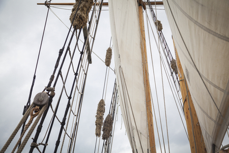 sailing boats: Tall ship in the Bay of Islands