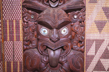 maori: Maori carving from New Zealand Stock Photo