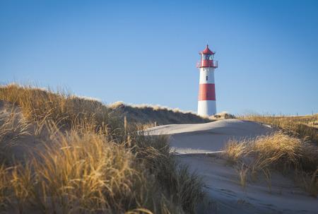 Lighthouse at the Ellbow List Sylt