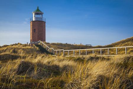 german ocean: Leuchtfeuer Kampen Lighthouse at Sylt