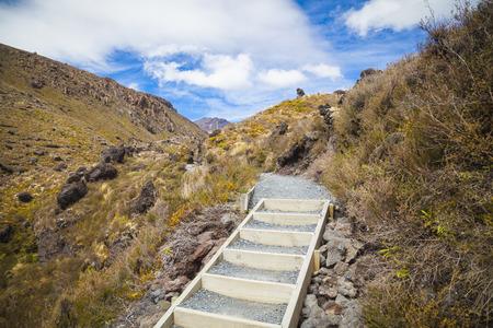 tongariro: Tongariro National Park New Zealand Stock Photo