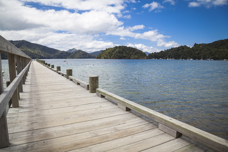 marlborough: Jetty in the Marlborough Sounds