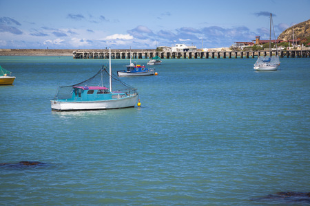 oamaru: Boats in the harbour of Oamaru New Zealand