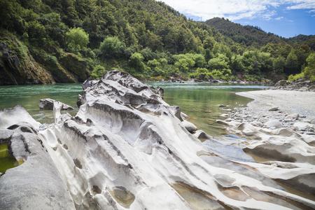 west river: River landscape on the west coast New Zealand