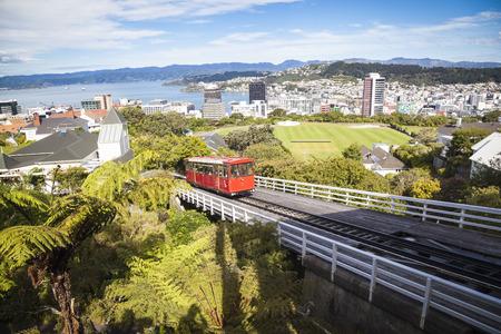 Cable car in Wellington Standard-Bild